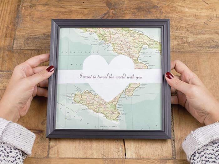 Valentine's Day Diy Gifts, atlas message