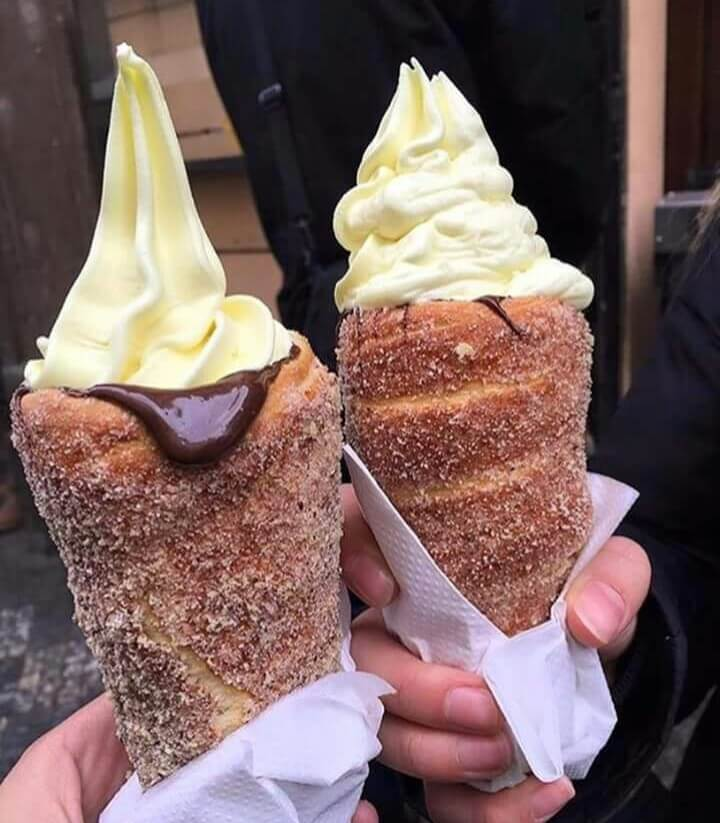 Discover The Latest Cake Bakery Trend, Chimney Cakes With Ice Cream