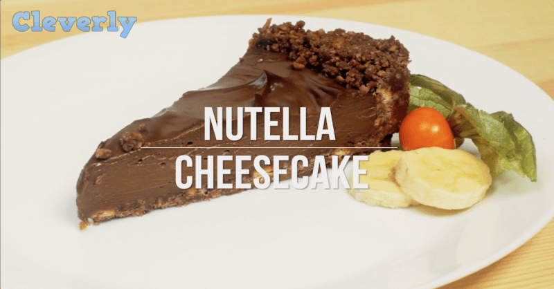 If You Love Nutella Cupcakes, You Should Check Out This Easy Nutella Cheesecake, Too!