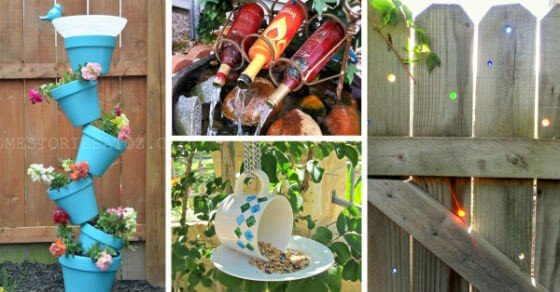 12 DIY Garden Decor Ideas Transforming Your Yard From Plain To Mesmerising