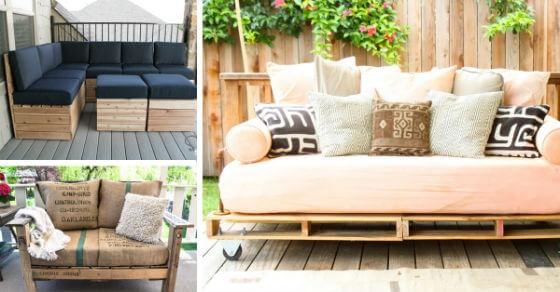 12 DIY Pallet Patio Furniture Tutorials For A Practical Outdoor Patio