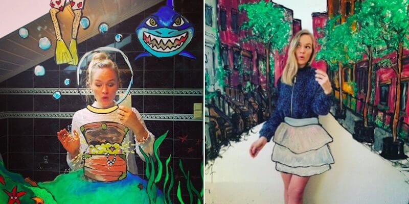 This Artist Has Incredible Selfie Ideas, She Takes Them To A New Level