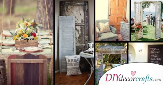 12 Old Door Vintage Decor Ideas To Boost The Charm Of Your Rustic House
