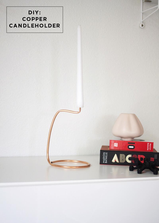 DIY Copper Candlestick Holder, diy candle