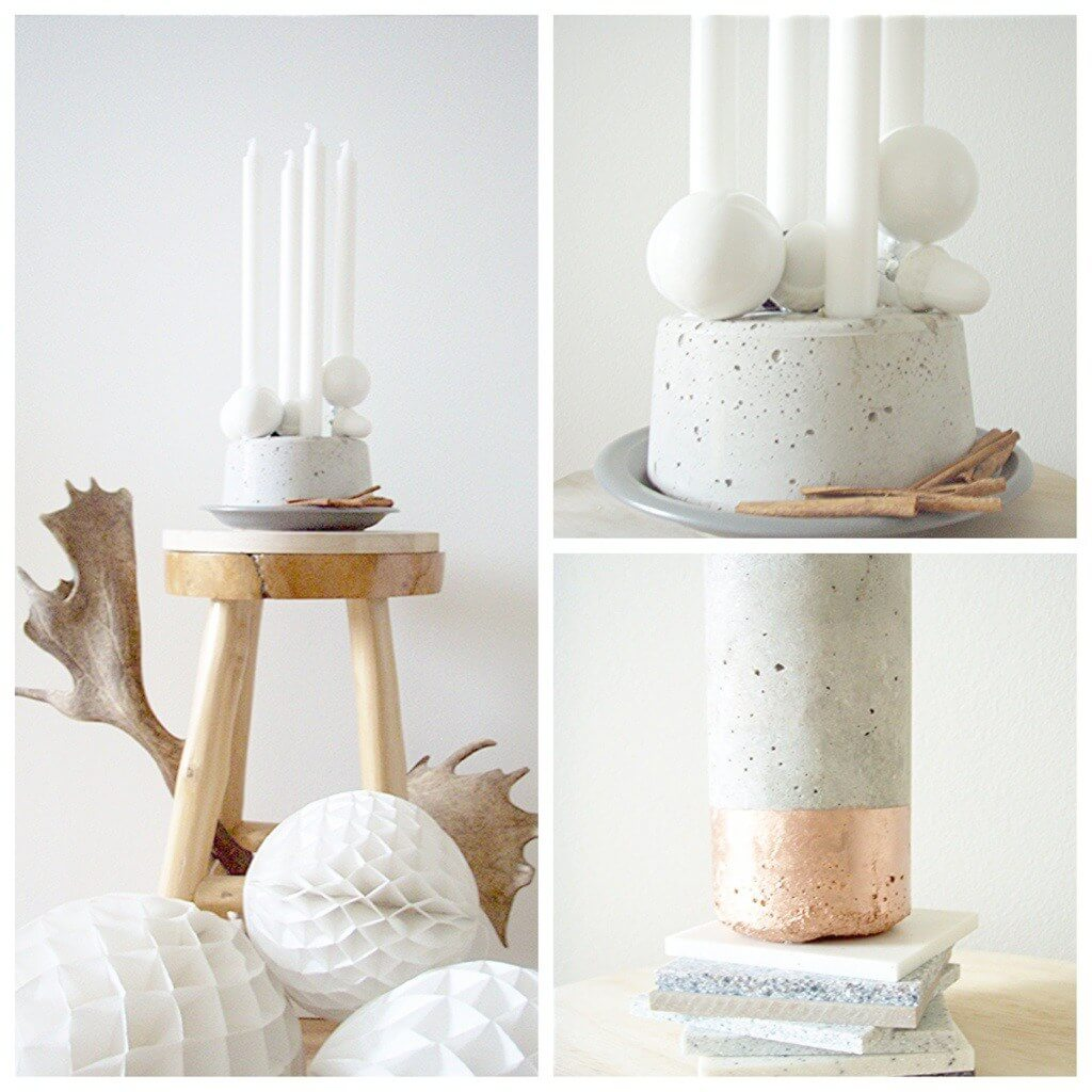 DIY Concrete Votive, diy candle