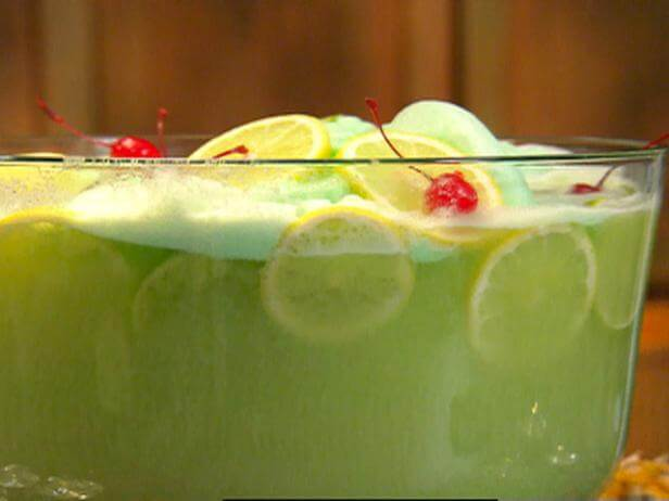 Lime Sherbet Punch, easy punch recipes