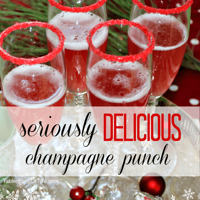 Seriously Delicious Holiday Champagne Punch, easy punch recipes