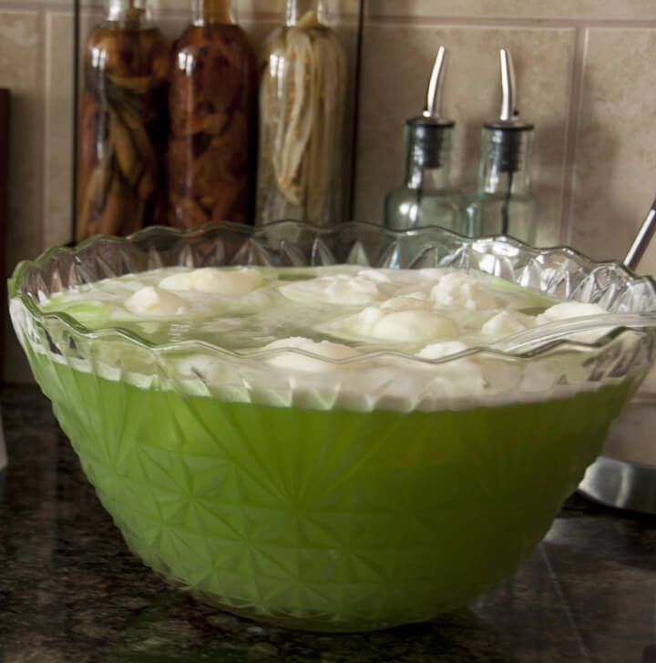 Christmas Grinch Lime Sherbet Punch, easy punch recipes