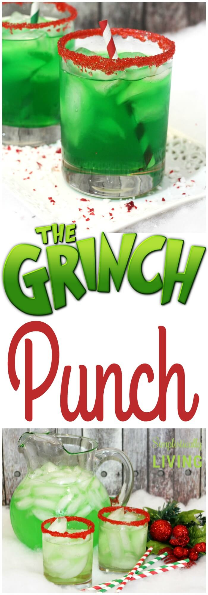 Grinch Punch, easy punch recipes