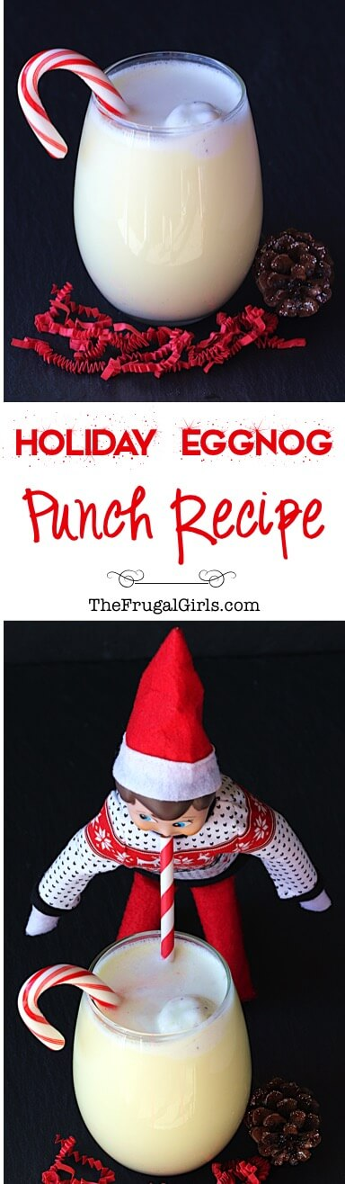 Holiday Eggnog Punch, easy punch recipes