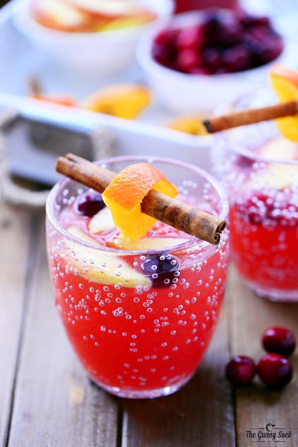 Cranberry Orange Punch, easy punch recipes