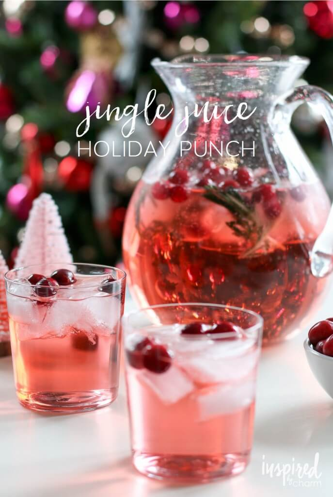 Jingle Juice Holiday Punch, easy punch recipes