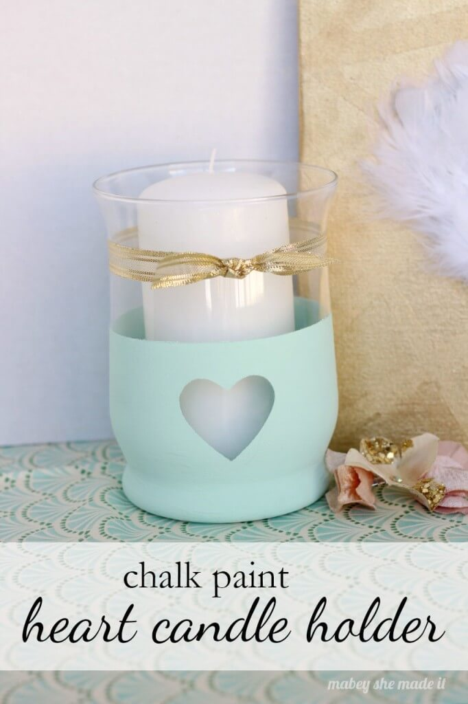 Heart Candle Holder, diy candle