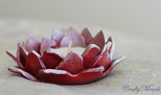 Lotus Candle Holders, diy candle