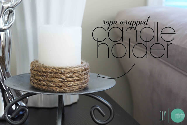 DIY: Easy Rope-Wrapped Candle Holder, diy candle