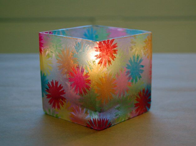Stained Glass Votive, diy candle