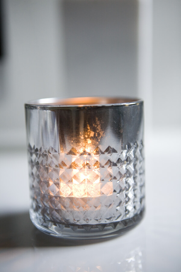 DIY Mercury Glass Candle Holders