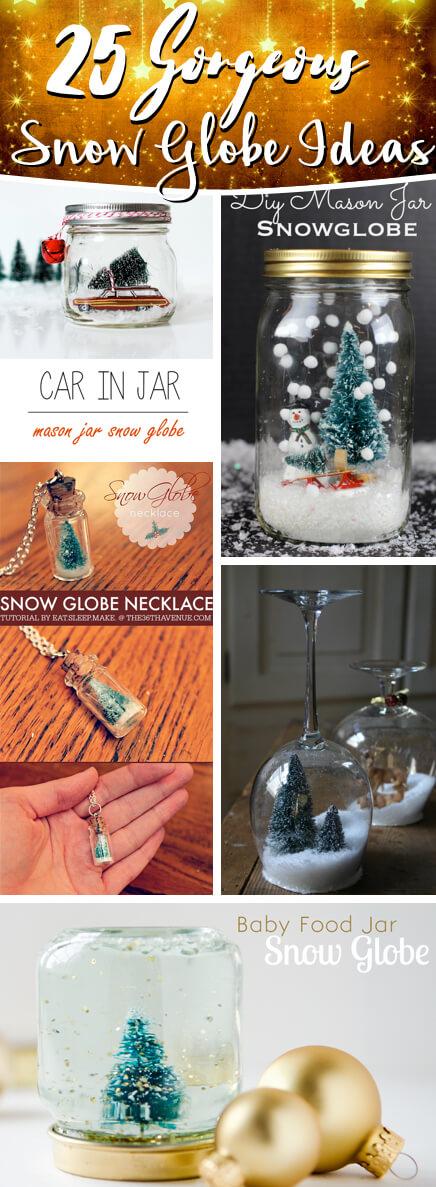 25 Stunningly Gorgeous Beautiful Snow Globe Ideas Diy Deco