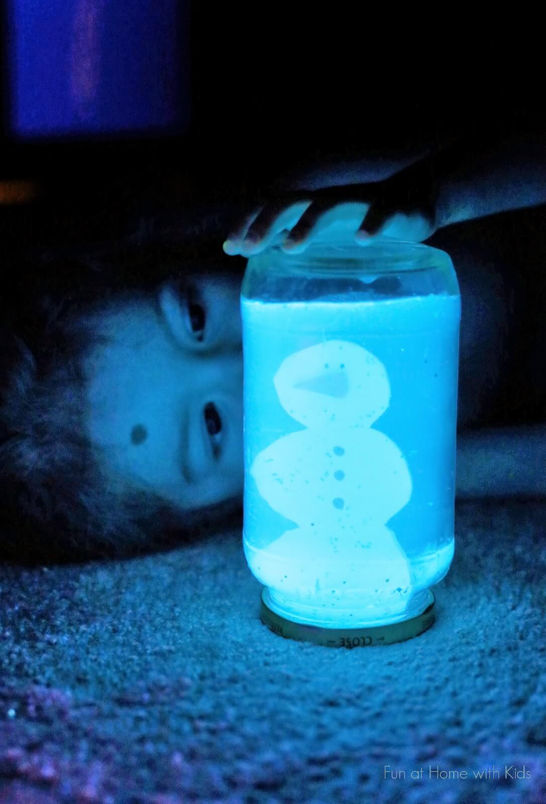 DIY Glowing Snow Globe