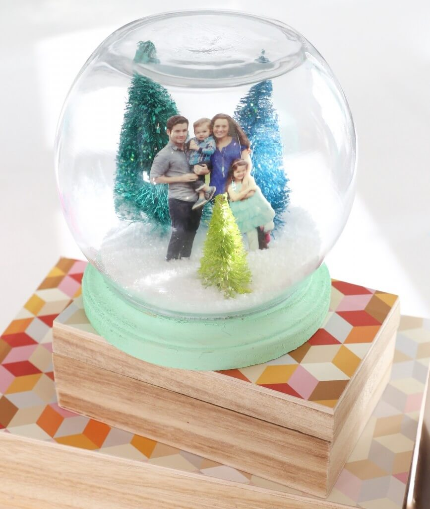 Family Portrait Snow Globe