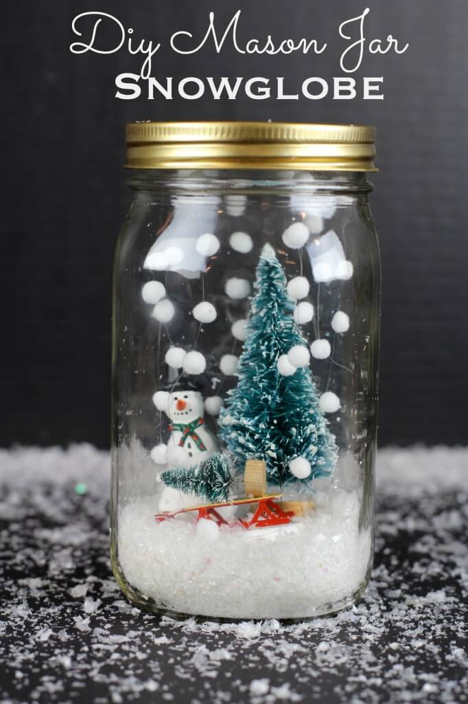 DIY Mason Jar Snow Globe