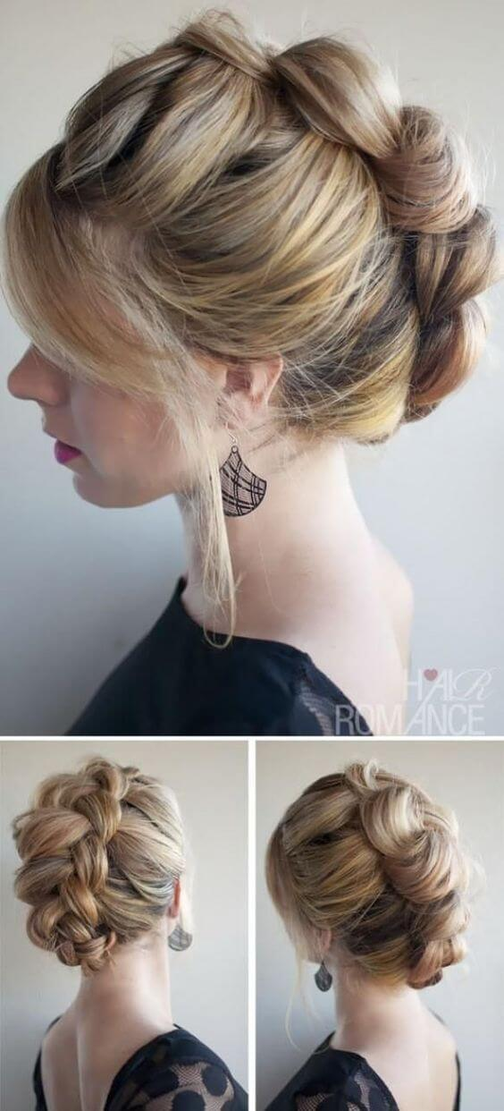 Five Easy And Absolutely Adorable Braid Hairstyles to Try, Dutch Braid Updo