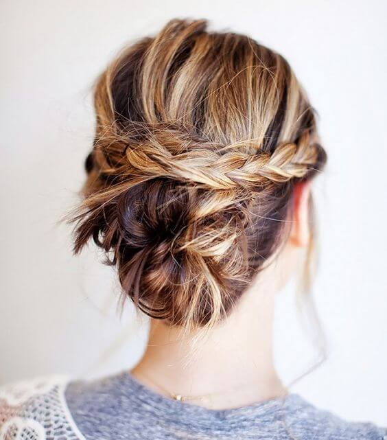 Five Easy And Absolutely Adorable Braid Hairstyles to Try, The Braided Bun