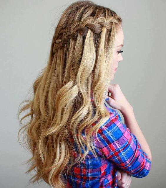Five Easy And Absolutely Adorable Braid Hairstyles to Try, Waterfall Braid