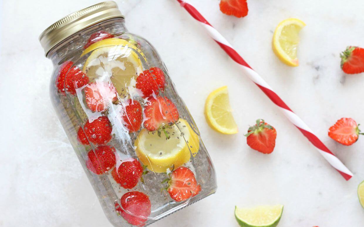 Four Great Drink Recipes For a Quick Weight Loss, Chia seeds and lemon water