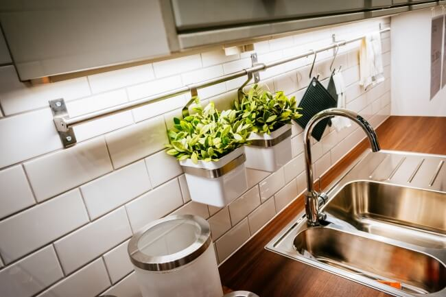 Ten Easy Ways to Design Your Own Kitchen in Less Than an Hour, flower pots