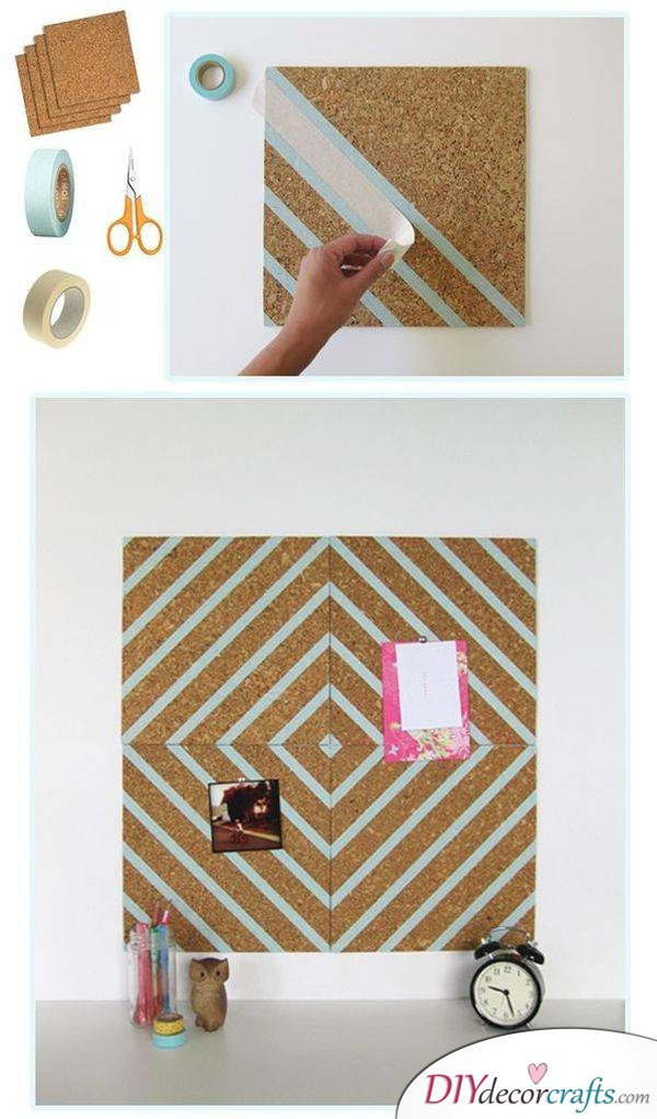 10 Amazing DIY Dorm Room Ideas To Spice Things Up Next Semester, Pin Board Decoration