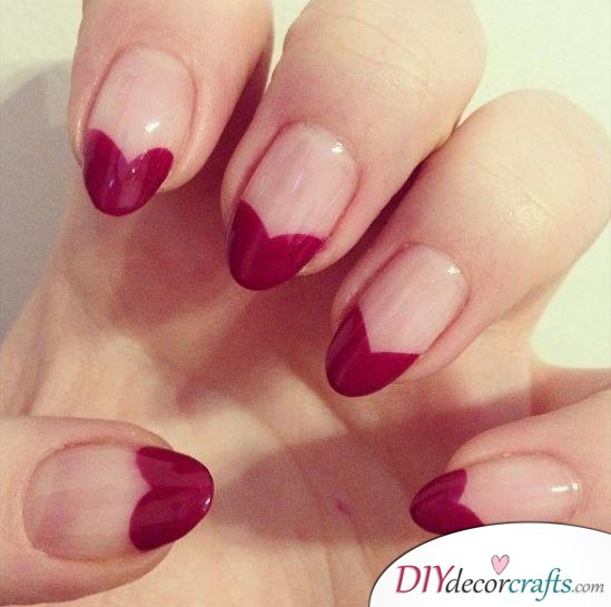 10 Best Nail Designs For A Date Night, Heart-Dipped Nails