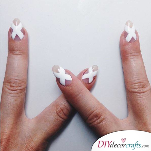 10 Best Nail Designs For A Date Night, Elegant White X's