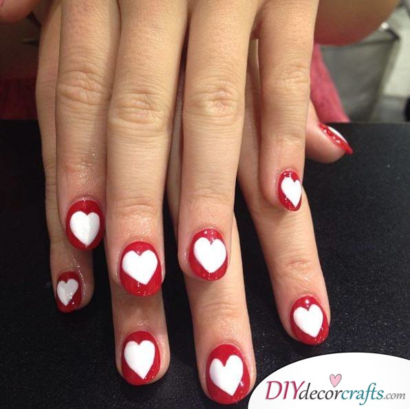 10 Best Nail Designs For A Date Night, Heart Gloss Cut-Outs