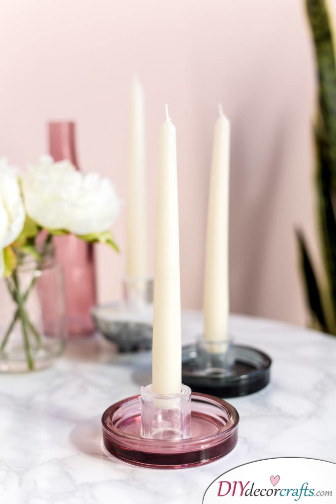 10 DIY Candle Holders To Make Your Home More Attractive, Perspex Candle Holders
