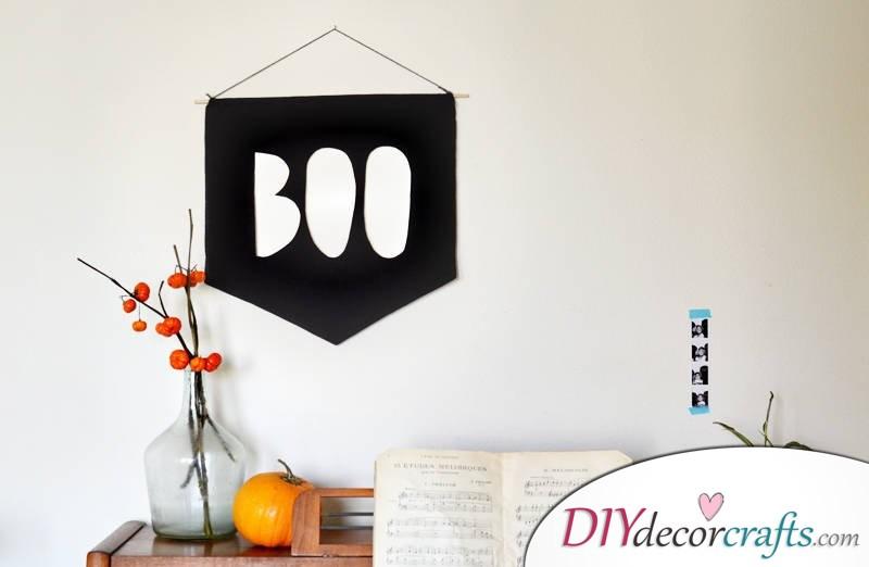 10 DIY Halloween Decor Ideas, Boo Banner