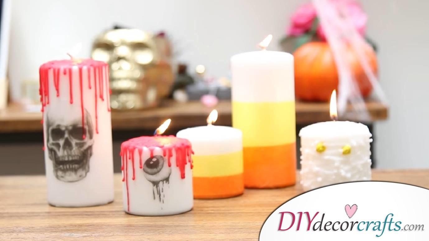 10 DIY Halloween Decor Ideas, Spooky Halloween Candles