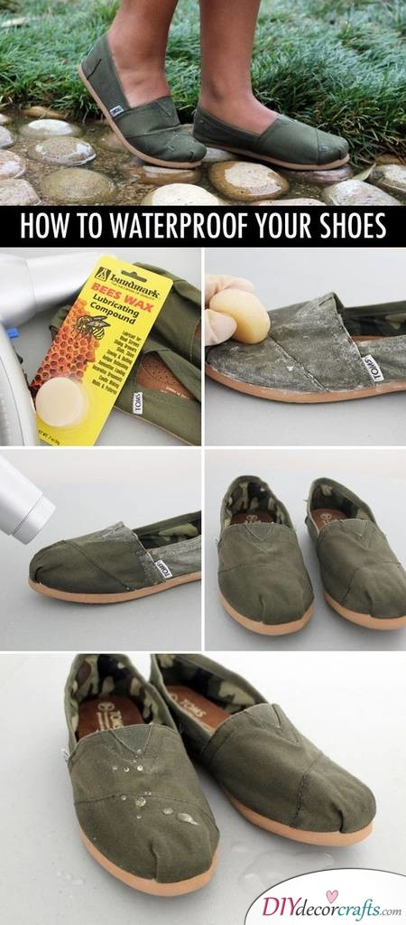10 Everyday Life Hacks That Will Change Your Life, Waterproof Shoes