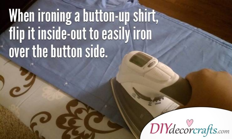 10 Everyday Life Hacks That Will Change Your Life, Shirt Ironing