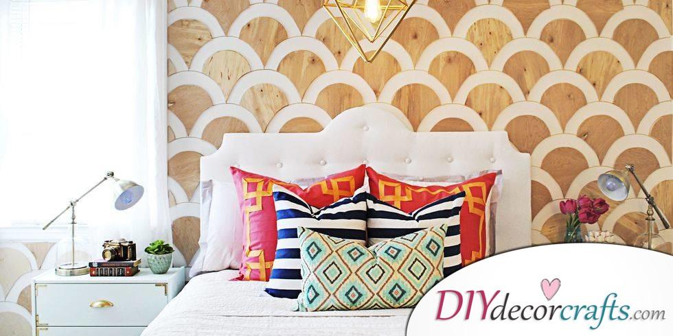 10 Simple DIY Home Decor Ideas, Scalloped Wall