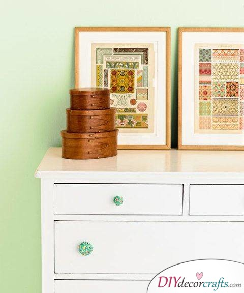 10 Simple DIY Home Decor Ideas, Fabric-Covered Drawer Pulls