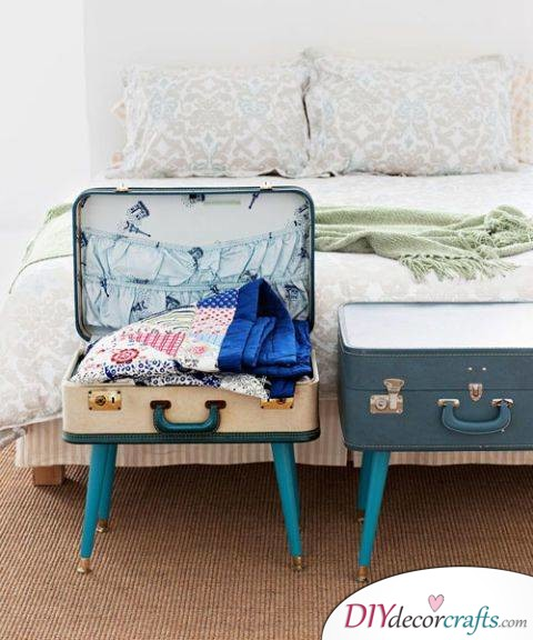 10 Simple DIY Home Decor Ideas, Suitcase Table