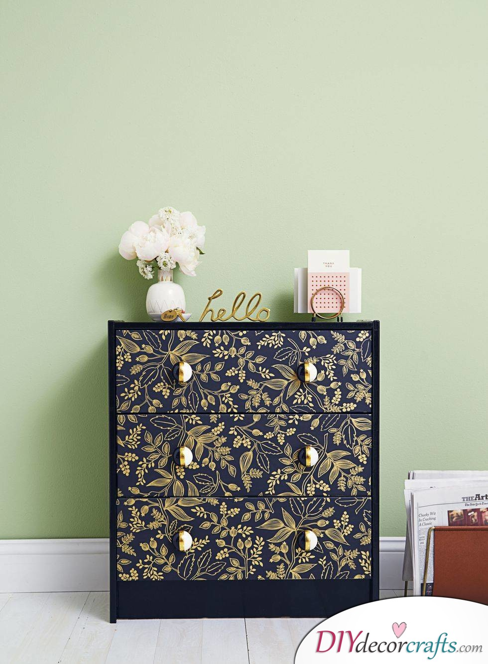 10 Simple DIY Home Decor Ideas, Patterned Dresser