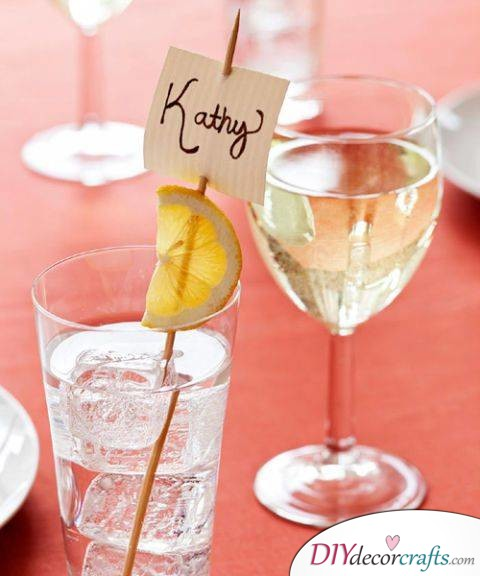 10 Simple DIY Home Decor Ideas, Drink Tags