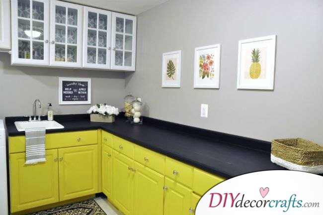 10 Simple Yet Amazing DIY Kitchen Countertop Ideas That Will Blow You Away, Faux Slate Countertop With Chalkboard Paint