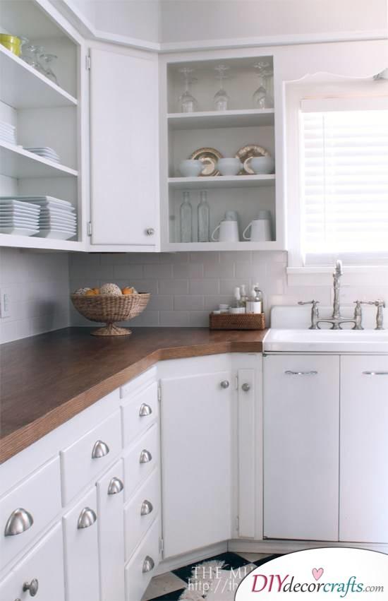 10 Simple Yet Amazing DIY Kitchen Countertop Ideas That Will Blow You Away, Old Oak Door Into Wooden Countertop
