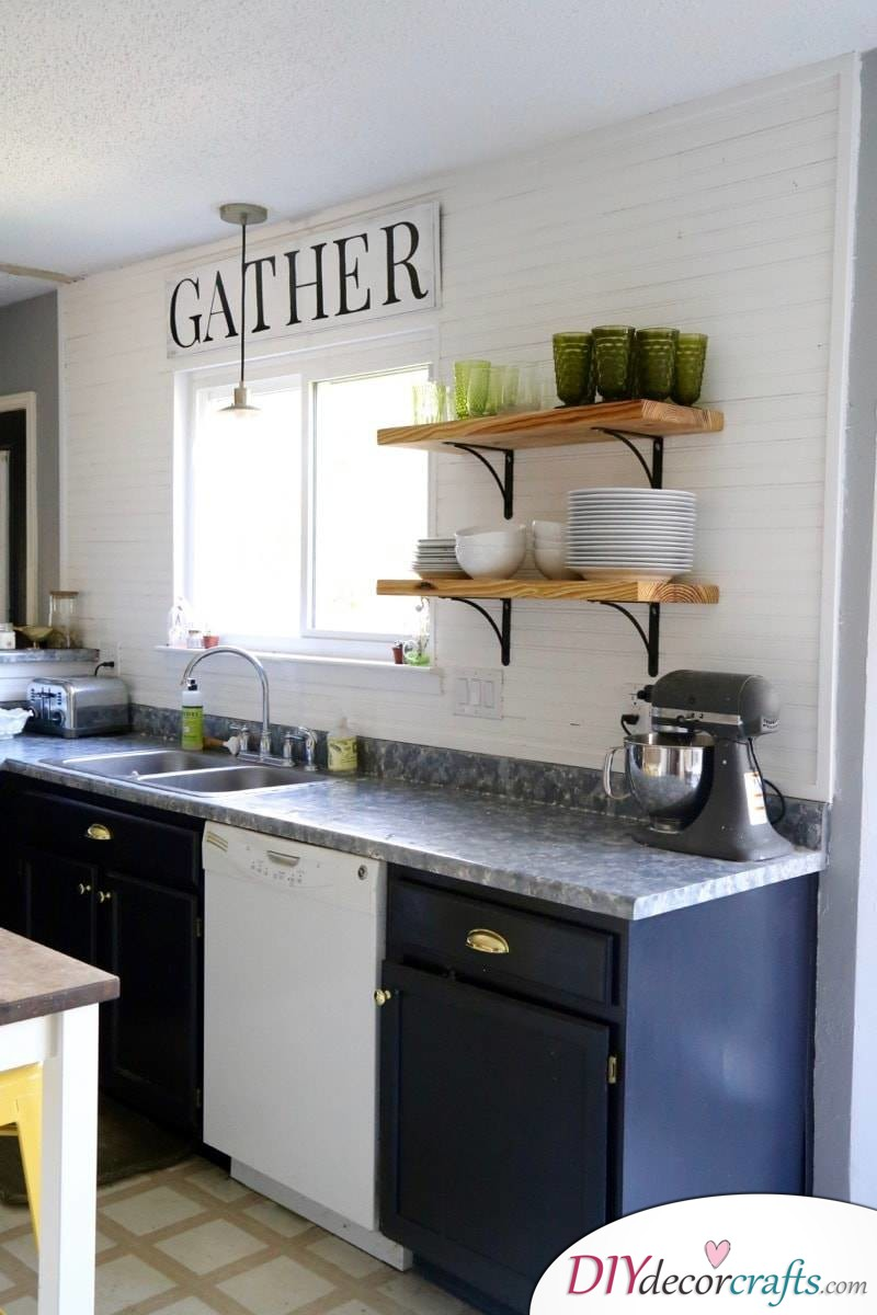 10 Simple Yet Amazing DIY Kitchen Countertop Ideas That Will Blow You Away, Faux Granite