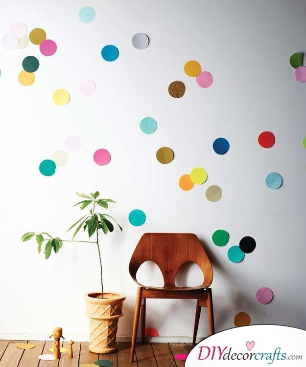 10 Wall Decor Ideas, Simple DIY Wall Decors, Confetti