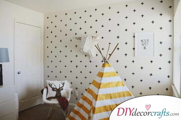 10 Wall Decor Ideas, Simple DIY Wall Decors, Washi Tape