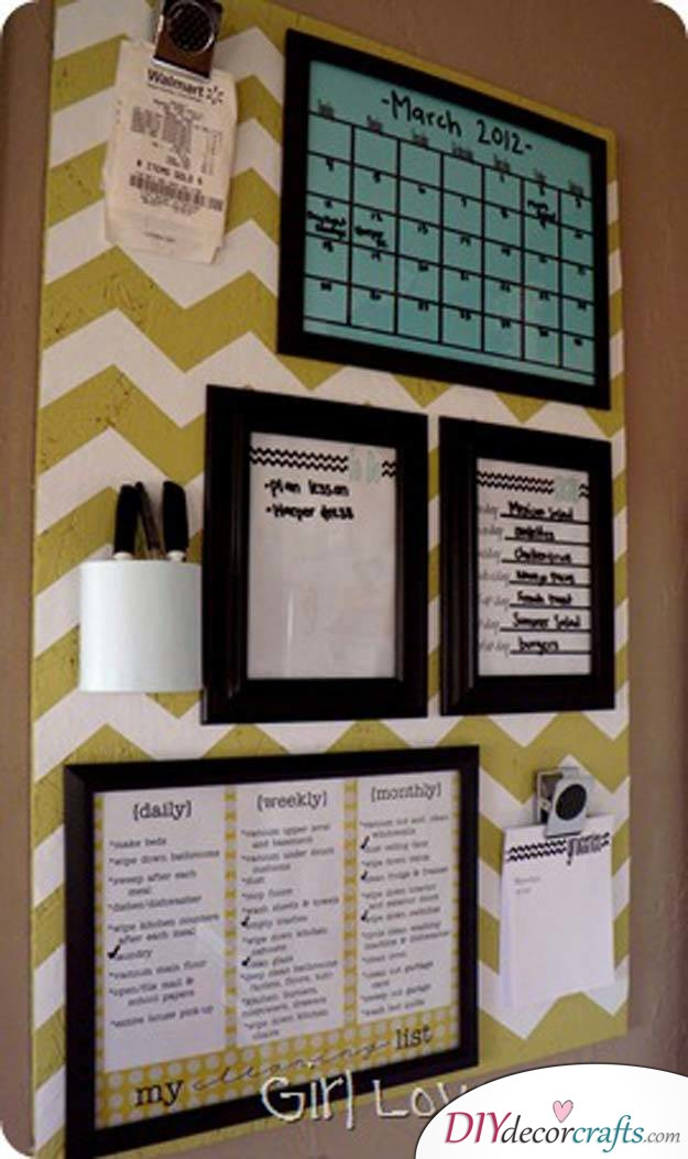10 Wall Decor Ideas, Simple DIY Wall Decors, Organization Board